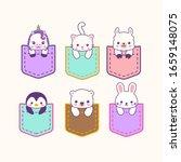 cute kawaii sweet pocket... | Shutterstock .eps vector #1659148075