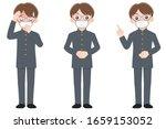 boy is wearing a mask | Shutterstock .eps vector #1659153052