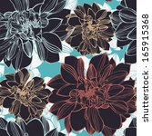 vector seamless pattern with... | Shutterstock .eps vector #165915368