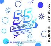 55th years anniversary... | Shutterstock .eps vector #1659157012