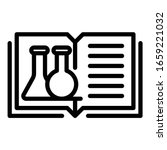 open book and test tubes icon.... | Shutterstock .eps vector #1659221032