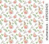 happy easter. watercolor... | Shutterstock . vector #1659233425