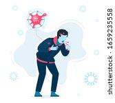 vector illustration of infected ...   Shutterstock .eps vector #1659235558