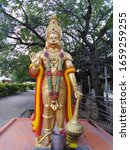 Small photo of Hanuman is an ardent devotee of Rama. Hanuman is one of the central characters of the Indian epic Ramayana
