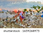 Abstract Landscape Painting Or...