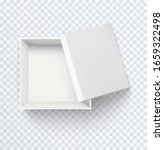 white empty box top view....   Shutterstock .eps vector #1659322498