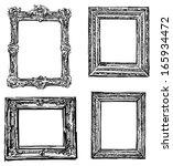 vintage hand drawn frame | Shutterstock . vector #165934472