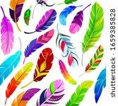 Feathers Seamless Pattern...