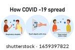 how coronavirus covid 19 spread ... | Shutterstock .eps vector #1659397822