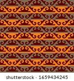 kazakh carpet ornaments.... | Shutterstock .eps vector #1659434245