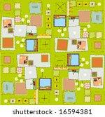flower and fruit pattern | Shutterstock .eps vector #16594381