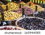 Assortment Of Olives On Market...