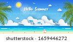 tropical summer banner... | Shutterstock .eps vector #1659446272