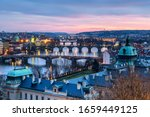 Sunset Cityscape View Of The...