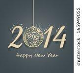 happy new year 2014 celebration ... | Shutterstock .eps vector #165949022