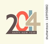happy new year 2014 celebration ... | Shutterstock .eps vector #165950882