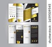 accordion fold brochure  eight...   Shutterstock .eps vector #1659509545
