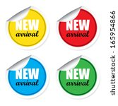 new arrival colorful labels ... | Shutterstock . vector #165954866