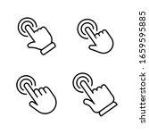 hand click vector icon. set of... | Shutterstock .eps vector #1659595885