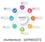 circle infographic modern... | Shutterstock .eps vector #1659601072