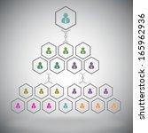 management pyramid of hexagonal ...   Shutterstock .eps vector #165962936