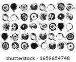coffee pattern brush drawing... | Shutterstock . vector #1659654748