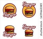 set of burger logo vector... | Shutterstock .eps vector #1659663385