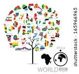 tree design. map. flag of...   Shutterstock .eps vector #165966965