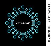 coronavirus bacteria cell icon  ...   Shutterstock .eps vector #1659710155