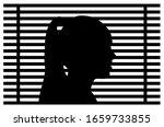 Silhouette Of Girl Head  Window ...