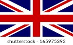 flag of the united kingdom.... | Shutterstock . vector #165975392
