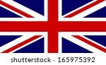 flag of the united kingdom.... | Shutterstock . vector #165975392