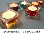 Colorful Shiny Candle Holders...