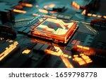 futuristc cpu processor and... | Shutterstock . vector #1659798778