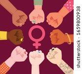 happy international women's day.... | Shutterstock .eps vector #1659800938