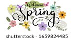 banner spring background with... | Shutterstock .eps vector #1659824485