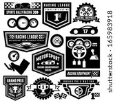 car racing emblems | Shutterstock .eps vector #165983918