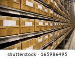 large group of cardboard boxes... | Shutterstock . vector #165986495