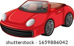 red racing car on white... | Shutterstock .eps vector #1659886042