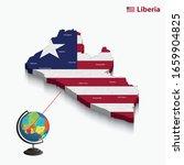 3d flags map of liberia. vector ... | Shutterstock .eps vector #1659904825