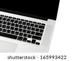 computer isolated on white... | Shutterstock . vector #165993422