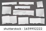 torn white grainy note ...   Shutterstock .eps vector #1659952222