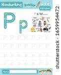 letter p uppercase and... | Shutterstock .eps vector #1659954472