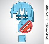 cartoon question | Shutterstock .eps vector #165997085