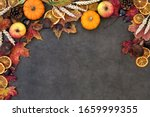 Autumn Nature Background Border ...
