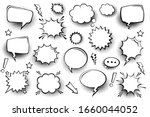 collection of empty comic... | Shutterstock .eps vector #1660044052