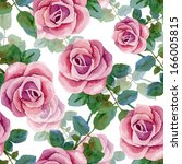 seamless background with roses. ... | Shutterstock .eps vector #166005815