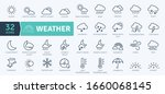 weather icons pack. thin line... | Shutterstock .eps vector #1660068145