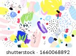 contemporary art pattern. brush ...   Shutterstock .eps vector #1660068892