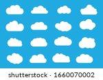 set of cloud icons vector...   Shutterstock .eps vector #1660070002